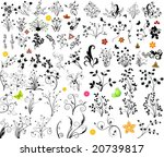 floral vector elements | Shutterstock .eps vector #20739817