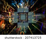 number tunnel series. backdrop... | Shutterstock . vector #207413725