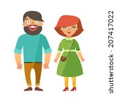 vector fashion people. man and... | Shutterstock .eps vector #207417022