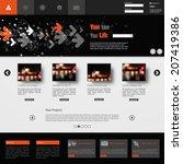website template. vector eps10