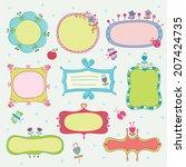 set of doodle frames | Shutterstock .eps vector #207424735