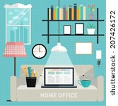 set of flat elements for home... | Shutterstock .eps vector #207426172