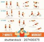 workout | Shutterstock .eps vector #207430375