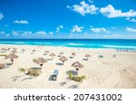 cancun beach panorama  mexico | Shutterstock . vector #207431002