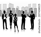 silhouette business group team... | Shutterstock .eps vector #207438025