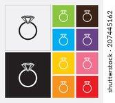 diamond engagement ring icon  ... | Shutterstock .eps vector #207445162