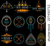 collection of badges and labels ... | Shutterstock .eps vector #207450712