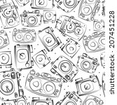 photo cameras seamless pattern | Shutterstock . vector #207451228