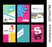 business brochure design.   Shutterstock .eps vector #207464788