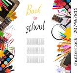 concept of school tools... | Shutterstock . vector #207467815
