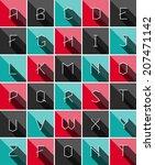 colofrul flat icons alphabet...