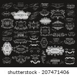 mega set of ornate frames and... | Shutterstock .eps vector #207471406