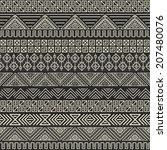 aztec pattern. vector tribal... | Shutterstock .eps vector #207480076