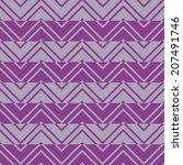 seamless pattern with geometric ... | Shutterstock .eps vector #207491746