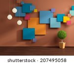 modern interior composition. | Shutterstock . vector #207495058