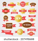 sale tags. old retro vintage... | Shutterstock .eps vector #207498688