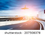 city expressway under the sun | Shutterstock . vector #207508378