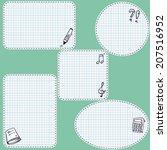 set of five contoured empty... | Shutterstock .eps vector #207516952