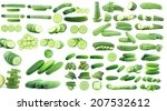 collection fresh cucumbers... | Shutterstock . vector #207532612