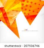 modern 3d glossy overlapping...   Shutterstock .eps vector #207536746