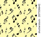 vector seamless pattern with... | Shutterstock .eps vector #207538642