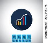 flat design icon of rising...