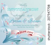 wedding invitation card with... | Shutterstock .eps vector #207547708