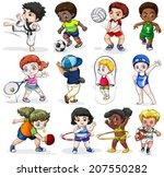 lllustration of the kids... | Shutterstock .eps vector #207550282