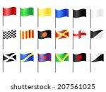 complete set of motorcycle  go... | Shutterstock . vector #207561025