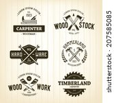 Vector Set Of Vintage Carpentr...