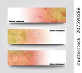 set of banner templates with... | Shutterstock .eps vector #207590386
