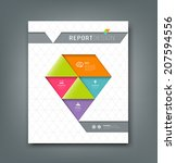 cover report colorful origami... | Shutterstock .eps vector #207594556
