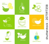 set of icons and emblems for... | Shutterstock .eps vector #207597358