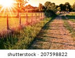 countryside landscape with a... | Shutterstock . vector #207598822