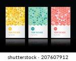 geometric backgrounds set | Shutterstock .eps vector #207607912
