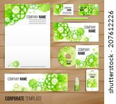 corporate identity business set ... | Shutterstock .eps vector #207612226