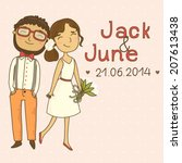 wedding invitation with a... | Shutterstock .eps vector #207613438