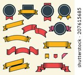 set of vintage ribbons and... | Shutterstock .eps vector #207615685