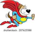 cartoon illustration of a dog... | Shutterstock . vector #207625588