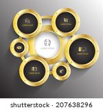 gold circle group background...