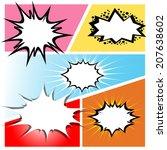 comic speech bubbles on a comic ...   Shutterstock .eps vector #207638602