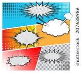 comic speech bubbles on a comic ...   Shutterstock .eps vector #207638986