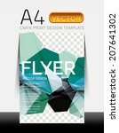 vector a4 cmyk modern flyer... | Shutterstock .eps vector #207641302