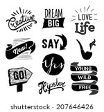 set of hipster vintage retro... | Shutterstock .eps vector #207646426