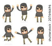 set of hacker character in... | Shutterstock .eps vector #207646696
