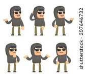 set of hacker character in... | Shutterstock .eps vector #207646732