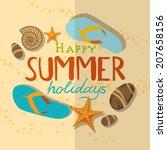 summer beach background | Shutterstock . vector #207658156