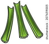 celery sticks   Shutterstock .eps vector #207659005