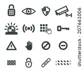 security icons vector set | Shutterstock .eps vector #207661006