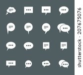 icons chat. vector set. eps8